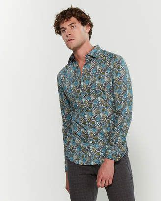 Ganesh Pattern Long Sleeve Sport Shirt