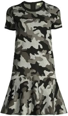 MICHAEL Michael Kors Shimmer Camo-Knit Dress