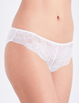 Wolford Stretch Lace floral-lace and mesh tanga briefs