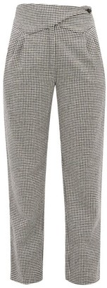 BLAZÉ MILANO Kismet Waist-panel Wool-blend Houndstooth Trousers - Black Multi