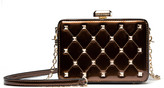 Mkf Collection By Mia K. MKF Collection by Mia K. Women's Handbags - Brown Quilted Stud-Accent Clutch
