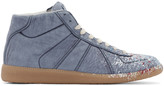 Maison Margiela Blue Replica High-Top Sneakers