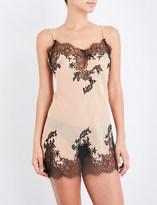 Marjolaine Silk-chiffon and lace slip dress