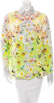Piccione Piccione Piccione.Piccione Printed Silk Top w/ Tags