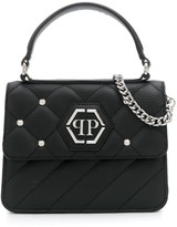 Philipp Plein Hexagon Logo studded shoulder bag