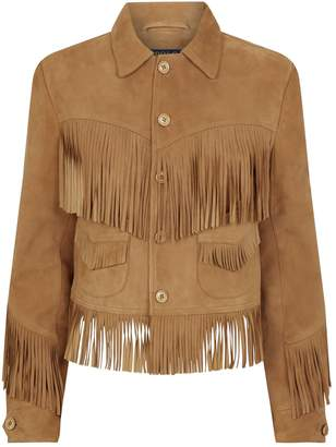 Polo Ralph Lauren Fringe-Trim Suede Jacket