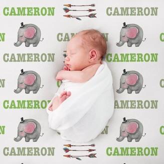 MonogramOnline Custom Elephant Baby Blanket