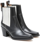 Thumbnail for your product : Ganni Western leather ankle boots