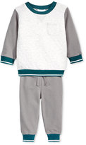 First Impressions Baby Boys' 2-Pc. Colorblocked Sweatshirt & Pants Set, Only at Macy's