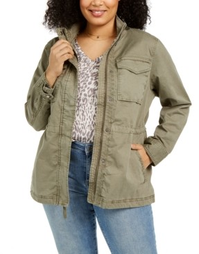 Style&Co. Style & Co Plus Size Cotton Utility Jacket, Created for Macy's