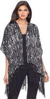 JLO by Jennifer Lopez Women's Beaded Fringe Kimono