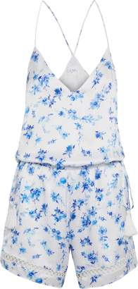 CAMI NYC The Chandler Floral-print Silk-charmeuse Playsuit