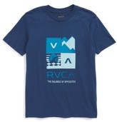RVCA Boy's Surf Check Graphic Print T-Shirt