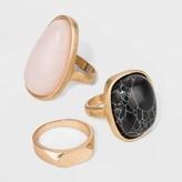 Universal Thread Mixed Semi-Precious Stone in Worn Ring Set - Universal ThreadTM