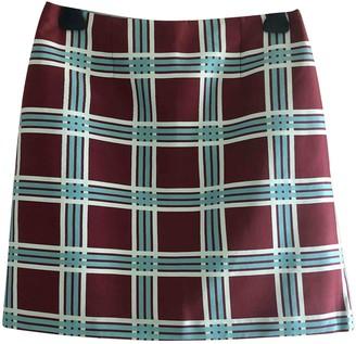 Tara Jarmon Burgundy Silk Skirt for Women
