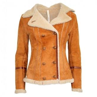 Le Sentier Camel Fur Jacket for Women