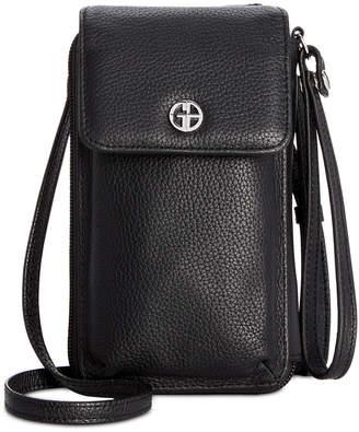 Giani Bernini Softy Leather Tech Crossbody Wallet