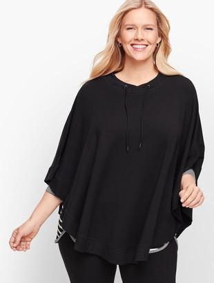 Talbots Plus Size Fleece Drawcord Poncho