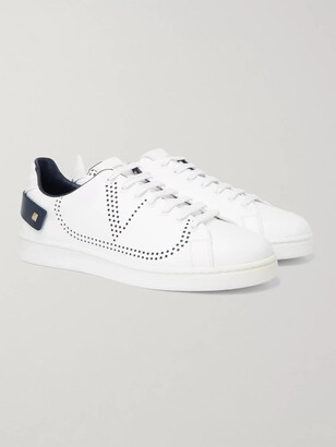 Valentino Backnet Perforated Leather Sneakers