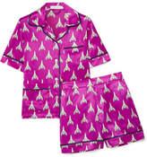 Olivia von Halle - Millicent Printed Silk-satin Pajama Set - Magenta