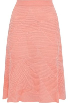 M Missoni Fluted Crochet-knit Cotton-blend Skirt