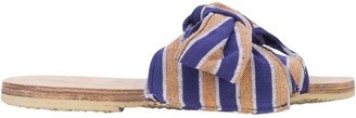 Brother Vellies Burkina Striped Sandal Blue/ Orange