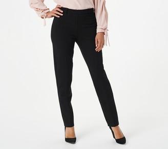 Susan Graver Regular Ponte Knit Pull-On Slim-Leg Pants