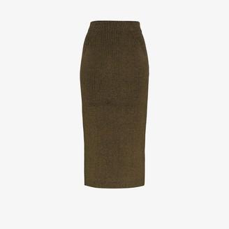 Mara Hoffman Susa Rib Knit Midi Skirt