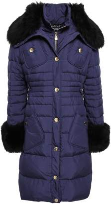 Moschino Shearling-trimmed Quilted Shell Down Coat