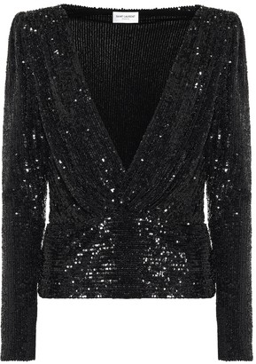 Saint Laurent Sequined blouse