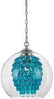 AF Lighting Turquoise Elements Glitzy Chandelier