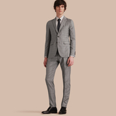 Burberry Slim Fit Prince of Wales Check Wool Part-canvas Suit