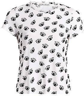 Alice + Olivia Women's Rylyn Eye-Print Tee