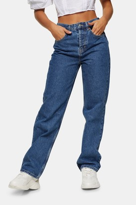 Topshop Womens Petite Mid Stone Jeans - Mid Stone