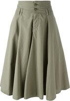 Closed pleated skirt - women - Cotton - 29