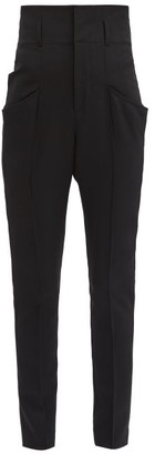 Isabel Marant Padme High-rise Wool Slim-leg Trousers - Black