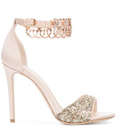 Monique Lhuillier glitter sandals - women - Leather/Satin - 35
