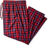 Nautica Men's Big and Tall Red Plaid Silky Fleece Pant