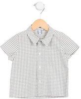 Baby CZ Boys' Short Sleeve Gingham Print Shirt