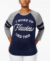 Hybrid Trendy Plus Size Cotton Flawless Graphic T-Shirt
