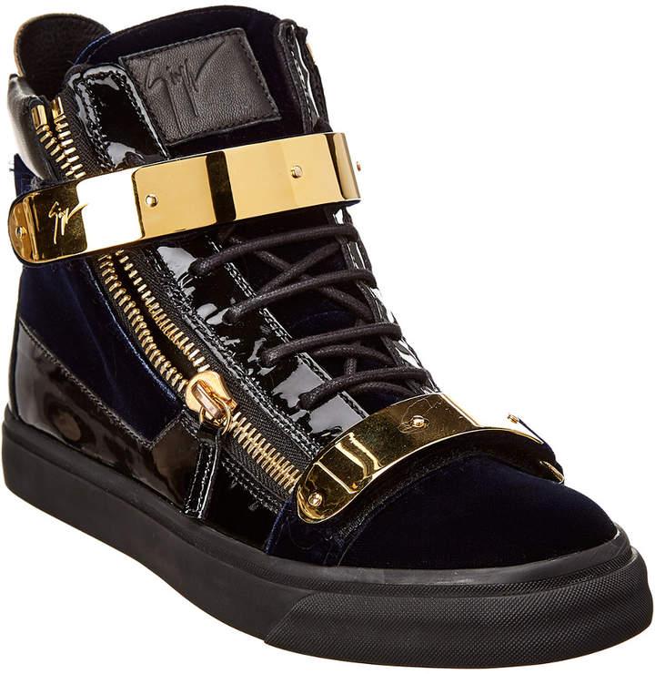 Giuseppe Zanotti Velvet & Leather Sneaker