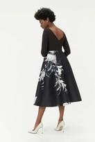 Coast Curve Mono Floral Print Full Midi Dress