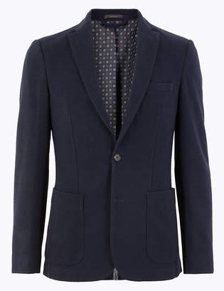 M&S CollectionMarks and Spencer Slim Fit Wool Blend Jacket with Stretch