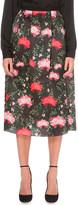 Erdem Floral-print silk midi skirt