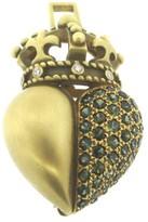 Kieselstein-Cord Heart Crown Peridot Diamond 18K Gold Brooch