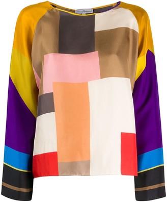 Pierre Louis Mascia Colour Block Blouse