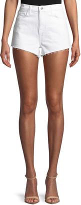 L'Agence Ryland High-Rise Denim Cutoff Shorts