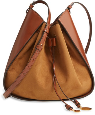 Stella McCartney Medium Eco Alter Faux Leather & Faux Suede Bucket Bag