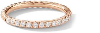 David Yurman Cable Pave Band Ring with Diamonds