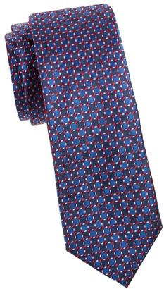 Saks Fifth Avenue Made In Italy Geometric Print Silk Tie